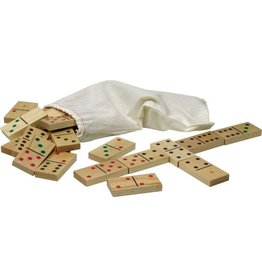 Maple Landmark Wooden Dominoes