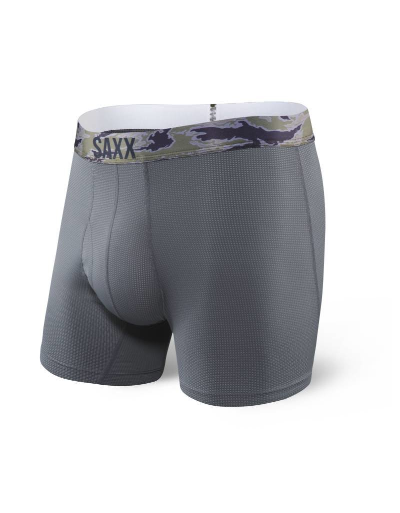 "Saxx Saxx Quest 5"" Boxer Brief - Charcoal/Camo"