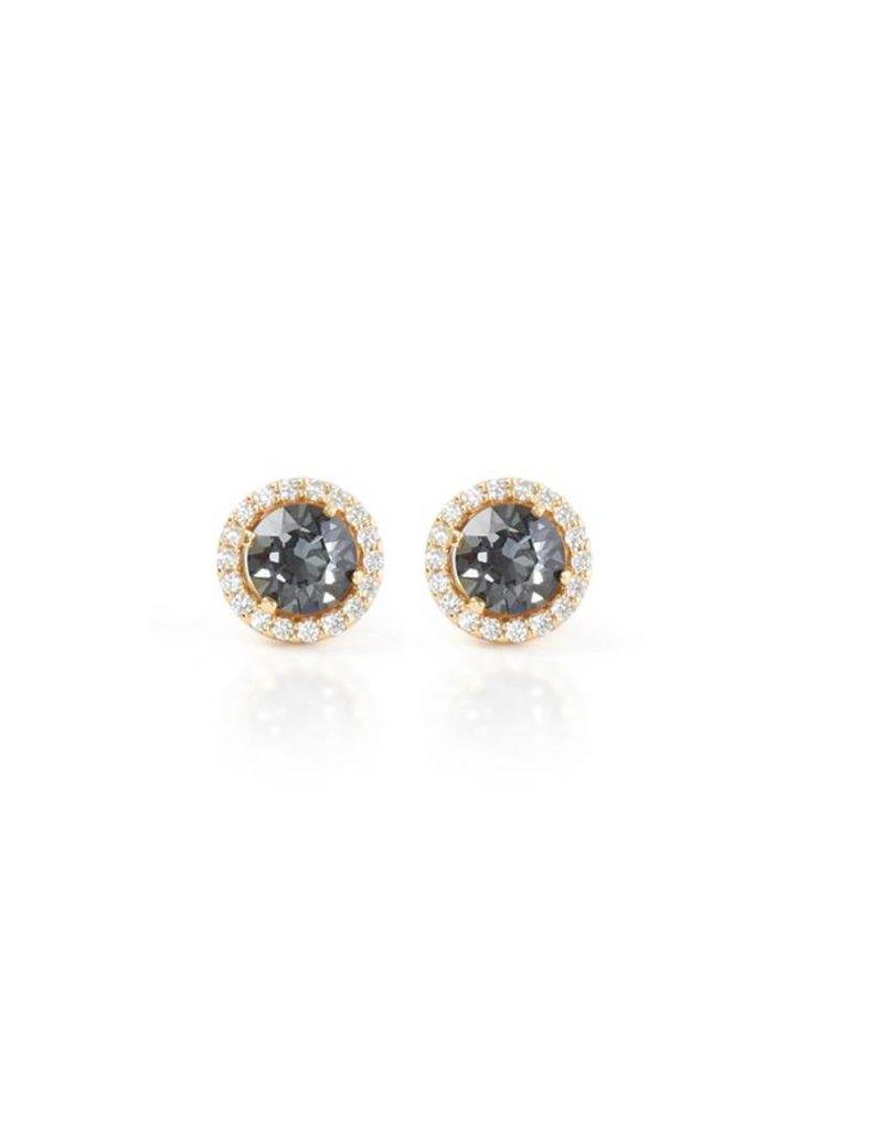 Hillberg & Berk Hillberg & Berk Esme Earrings Gold Hematite