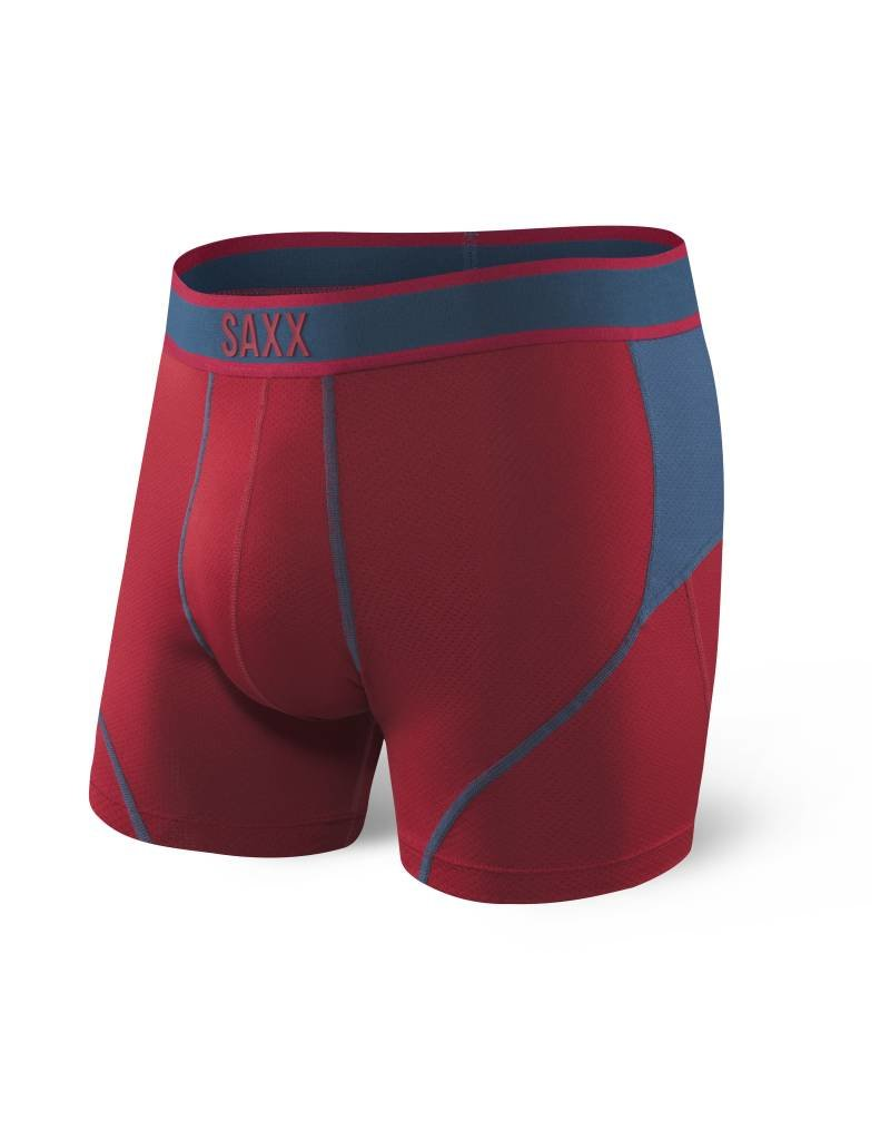 Saxx Saxx Kinetic Boxer Brief - Deep Red/Blue