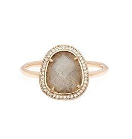 Melanie Auld Melanie Auld Stone Slice Ring