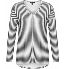 Tribal Tribal Stripe V Neck
