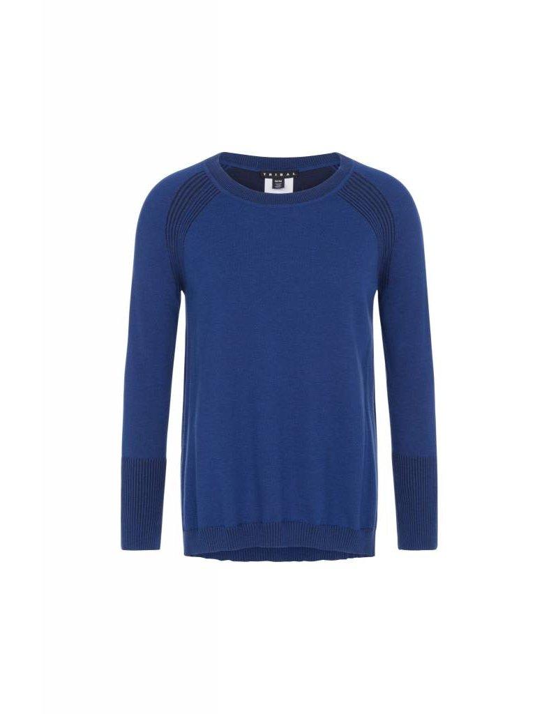 Tribal Tribal Cotton Reversible Sweater