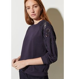 Great Plains Winter Embroidered LS Crew Neck Top