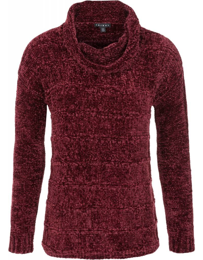 Tribal Tribal Chenille Cowlneck Sweater