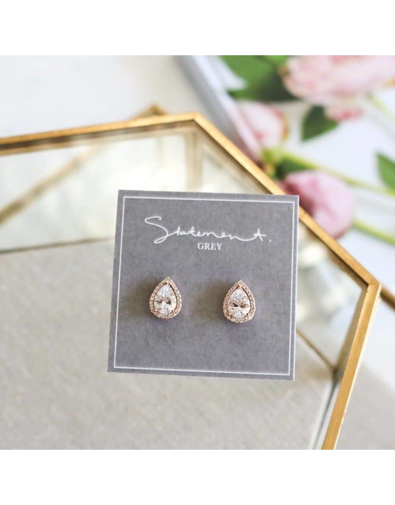 Statement Grey Statement Grey Rouge Earrings