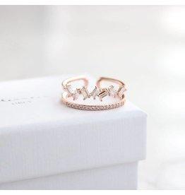 Statement Grey Statement Grey Floraison Adjustable Ring