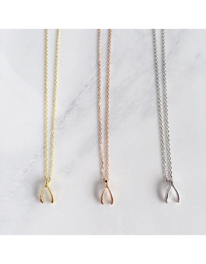 Statement Grey Statement Grey Wishbone Necklace