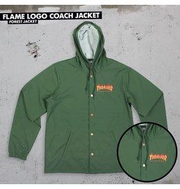 THRASHER THRASHER FLAME LOGO COACH JACKET