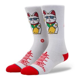 STANCE STANCE THANK YOU ENJOY MONEY CAT SOCK