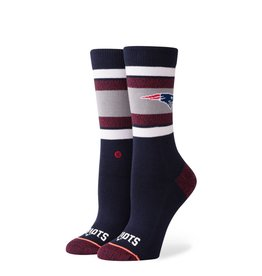 STANCE STANCE WOMENS PATRIOTS CREW SOCK BLUE