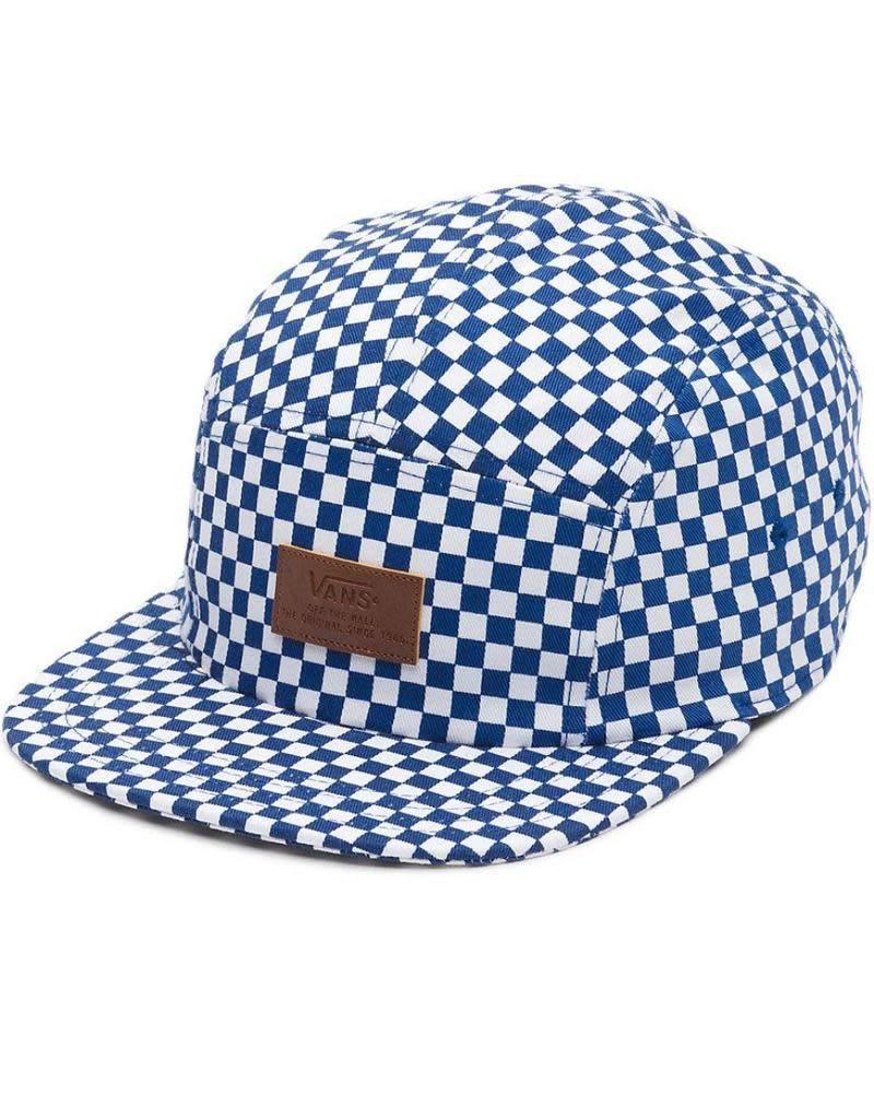 VANS VANS DAVIS 5 PANEL BLUE CHECKERED WHITE CAP