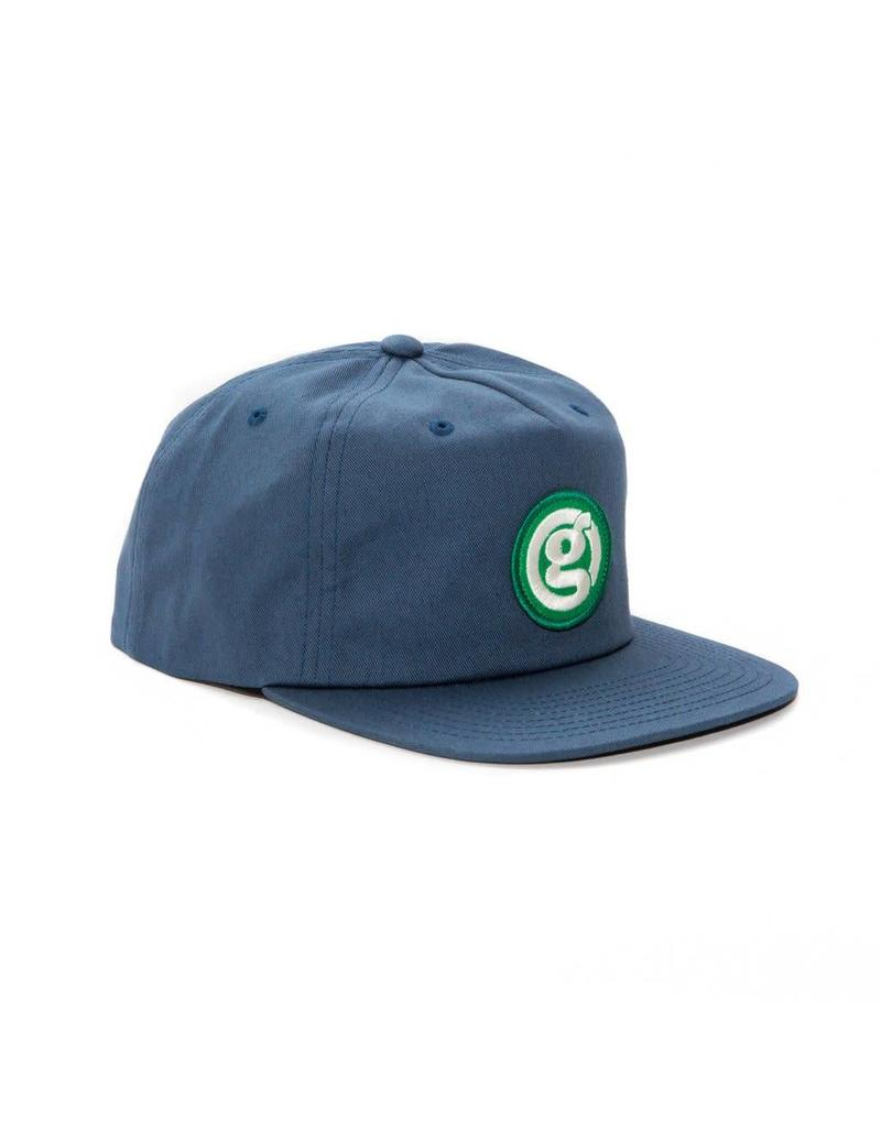 GIRL GIRL CIRCLE G SNAP BACK HAT BLUE