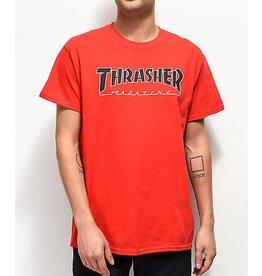 THRASHER THRASHER OUTLINED TEE RED