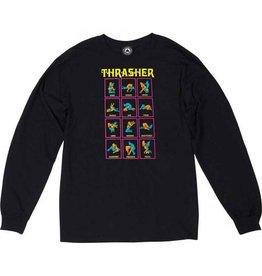 THRASHER THRASHER BLACK LIGHT L/S LONGSLEEVE TEE