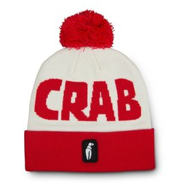CRAB GRAB CRAB GRAB POM BEANIE RED WHITE