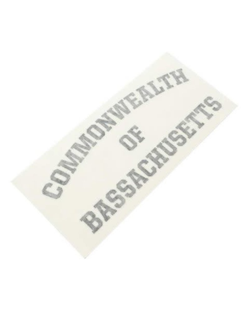 BASSACHUSETTS BASSACHUSETTS COMMONWEALTH DIE CUT STICKER