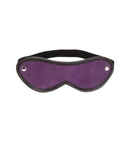 Punishment Purple Suede Blindfold