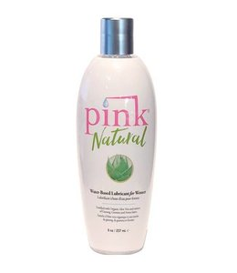 Pink Natural Water-Based Lubricant 8oz