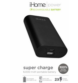 iHome iHome SuperCharge 2.0 6000mAh Power Bank Black