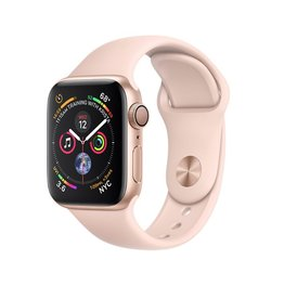 Apple Apple Watch Series 4 GPS, 40mm Gold Aluminum Case with Pink Sand Sport Band