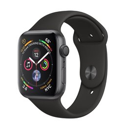 Apple Apple Watch Series 4 GPS, 44mm Space Gray Aluminum Case with Black Sport Band
