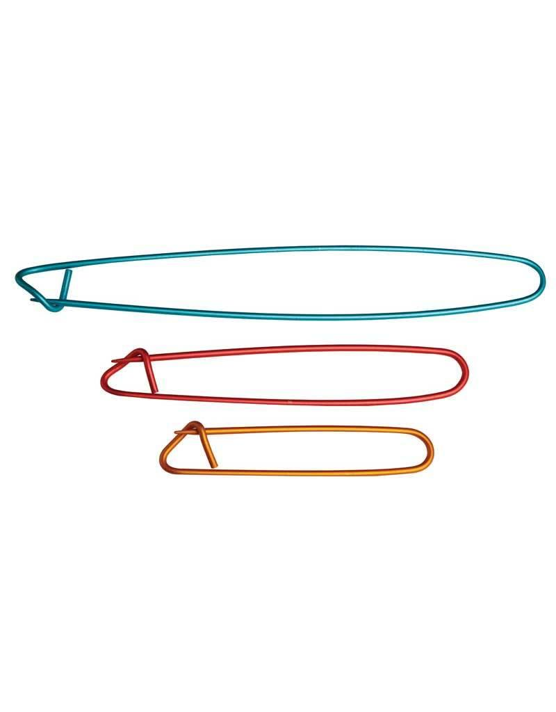 "Knitters Pride KP Aluminum Stitch Holders (6.50""/4.50""/3.25"")"