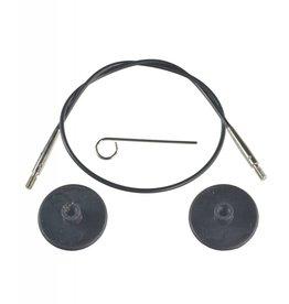 "Knitters Pride KP Black cord - 30"" (76 cm to make 100 cm/ 40"")"