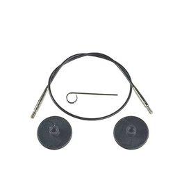 "Knitters Pride KP Black cord - 11"" (28 cm to make 50 cm/ 20"")"
