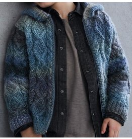 Phildar France PATTERN HOODED JACKET WITH MIKADO
