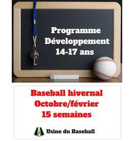 Usine du baseball Programme Développement - Baseball hivernal 2018-2019