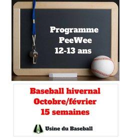 Usine du baseball Programme PeeWee hiver 2018 2019 - Usine du baseball