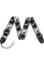 "Fender 2"" Monogrammed Strap, Black/Light Grey/Dark Grey"