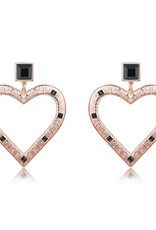 F+H JEWELLERY F+H CINDY LARGE HEART EARRING