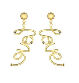 F+H JEWELLERY F+H LOVE SCRIPT EARRING