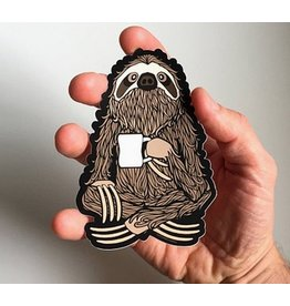 Sprouted Scribbles Coffee Sloth Sticker