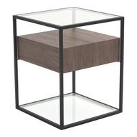 CLARO SIDE TABLE WALNUT