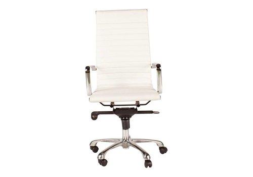 OMEGA OFFICE CHAIR HIGH BACK WHITE