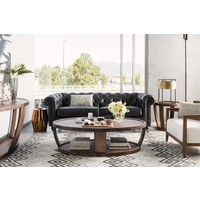 ... DYLAN ROUND END TABLE RUSTIC WALNUT ...