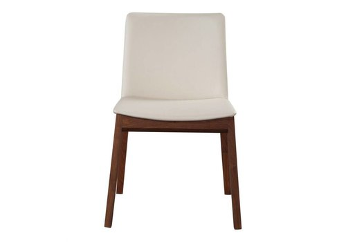 DECO DINING CHAIR WHITE PVC