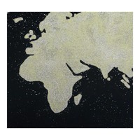 BLACK MAP WALL DECOR
