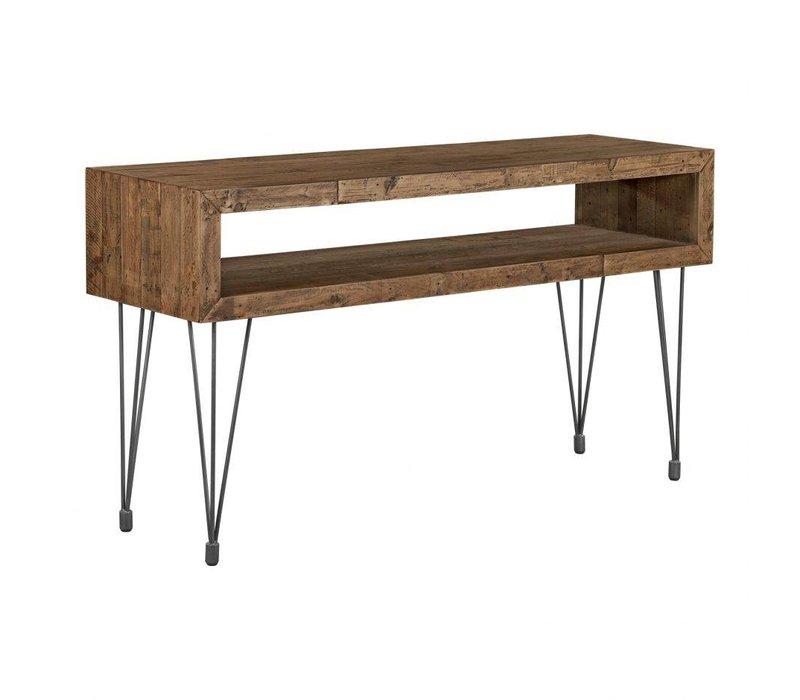 BONETA 2 LEVEL CONSOLE TABLE NATURAL