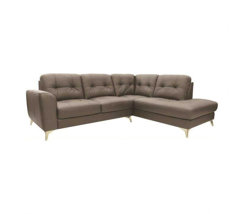 CEDRIC LEATHER SECTIONAL RIGHT GREY