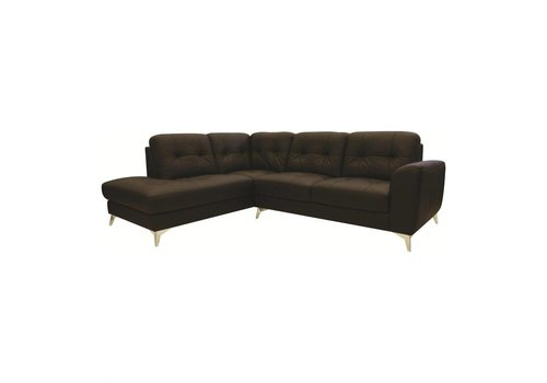 CEDRIC LEATHER SECTIONAL LEFT CHOCOLATE