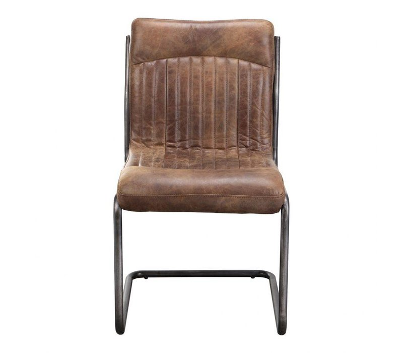 ANSEL DINING CHAIR LIGHT BROWN