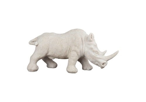 RHINO SCULPTURE WHITE