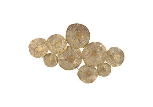 LARGE CIRCLES WALL DECOR GOLD