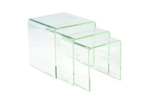 COVO TABLES SET OF THREE GLASS