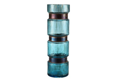 RING VASE LARGE BLUE