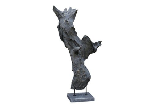 MAY TEAK SCULPTURE WEATHERED GREY